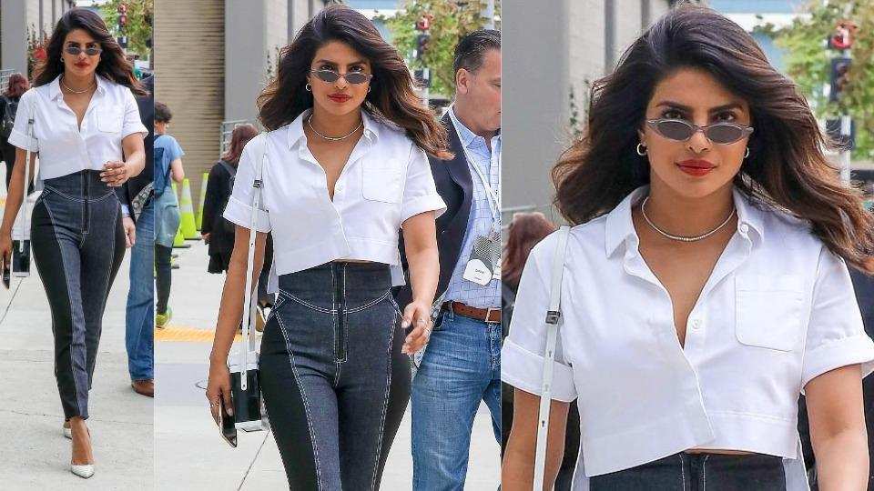 Priyanka Chopra,Crop top,Jeans