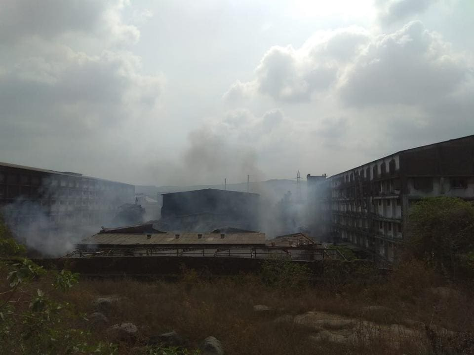 No casualties have been reported as the fire started in the early hours when there was no one inside the unit.