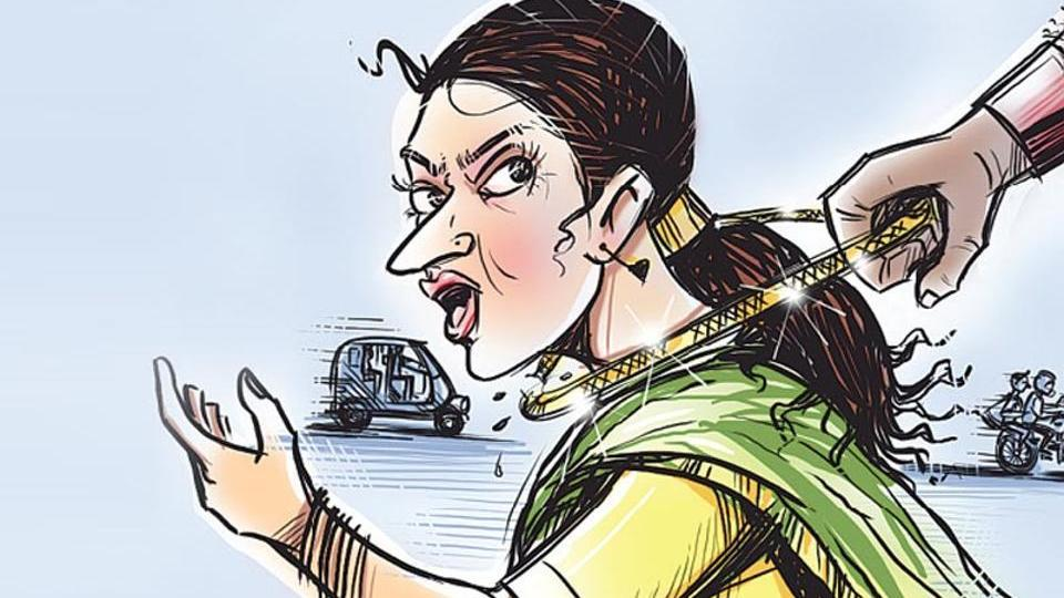 Police say the modus operandi is often the same in chain-snatching cases — bike-borne men target  women who are travelling alone. They speed by on the two-wheeler, snatching the ornament in the process, before their victims realise may realise what is happening.