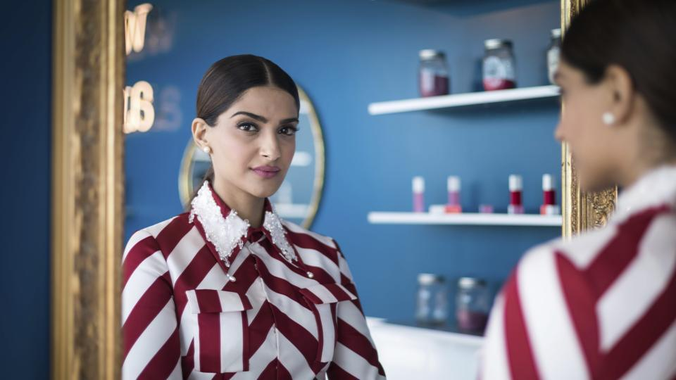 Sonam Kapoor poses for a portrait photograph at the 71st international film festival in Cannes.