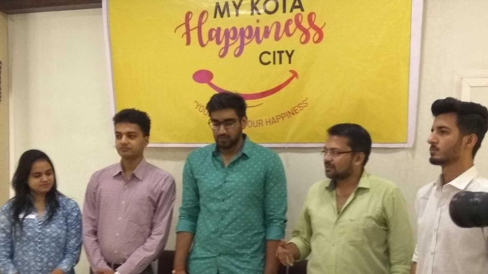 The 'Making Kota, Happiness City' website being launched on Sunday.