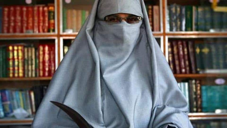 Asiya Andrabi, chief of the Dukhtaran-e-Milat (Daughters of the Muslim Faith).