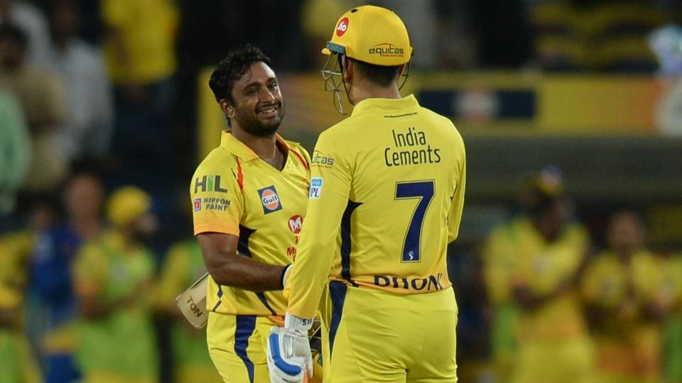 A recent study shows that Ambati Rayudu (L) was a more valuable buy for Chennai Super Kings than M.S Dhoni (R) in the Indian Premier League (IPL) 2018.