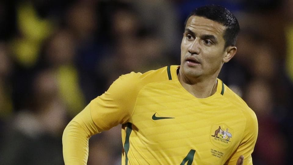 The 38-year-old Tim Cahill  was chosen on June 3, 2018, by coach Bert van Marwijk among 23 players set to play in the FIFA World Cup 2018 in Russia for the Australian football team.