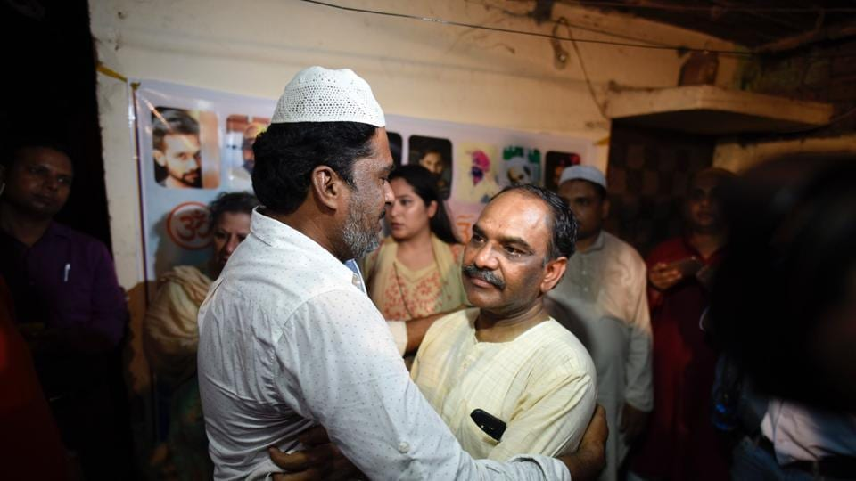Father of 23-year-old Ankit Saxena, who was killed in Delhi in a hate crime in February, hosts an Iftar party at his residence in Raghuvir Nagar to send a message of love and harmony.