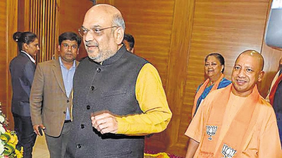 BJP President Amit Shah during Chief Ministers Council meeting in New Delhi.