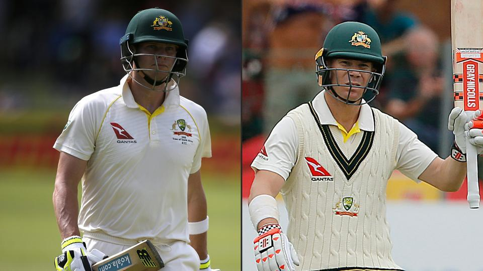 Steve Smith (L) and David Warner are banned from top-flight international and domestic cricket but can play in leagues outside Australia.