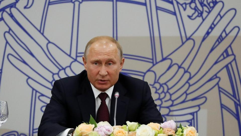 File photo of Russian President Vladimir Putin during a meeting with foreign investors as part of the St. Petersburg International Economic Forum (SPIEF), Russia on May 25.