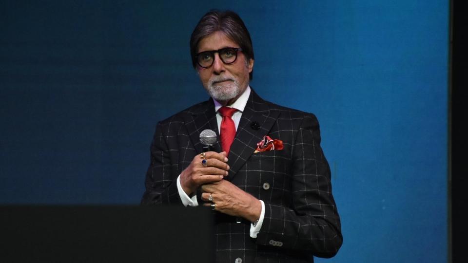 Mumbai: Actor Amitabh Bachchan at the launch of OnePlus 6 in Mumbai.