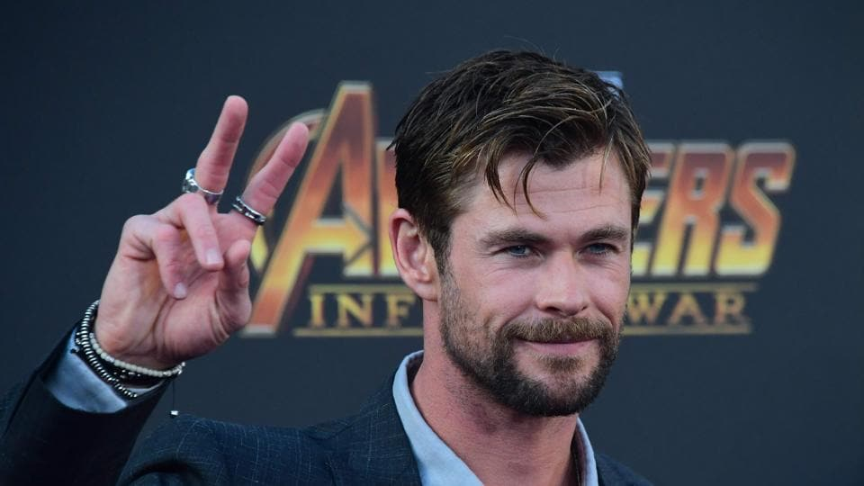 Actor Chris Hemsworth arrives for the World Premiere of the film Avengers: Infinity War in Hollywood.