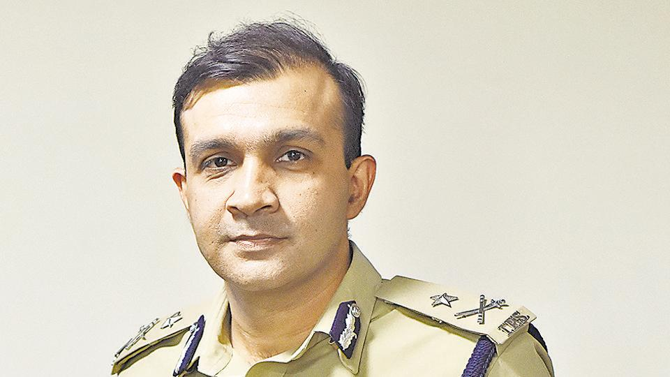 Gurugram's Commissioner of Police Sandeep Khirwar during and interview with Hindustan Times, in Gurugram, on Sunday.