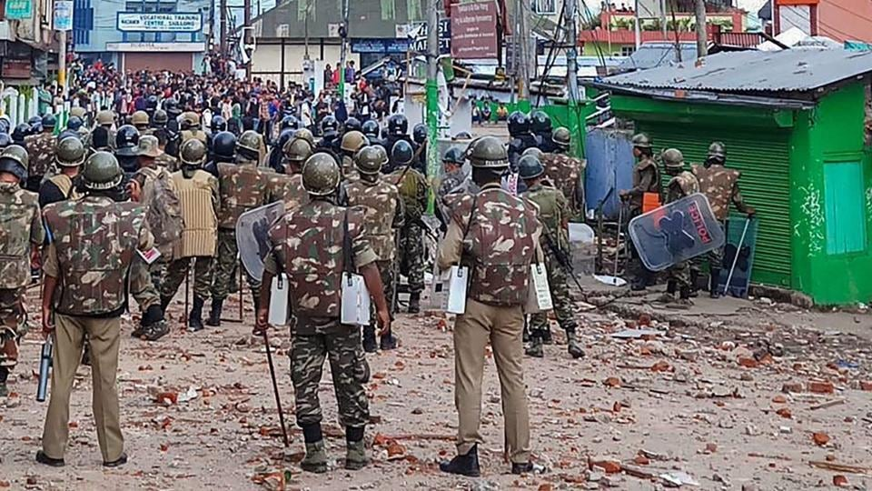 Curfew in Shillong,Shillong news,Shillong tense