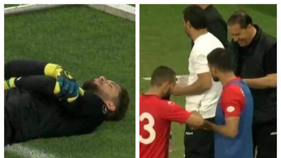 Goalkeeper fakes 'injury' to help his teammates break Ramzan fast (Twitter)