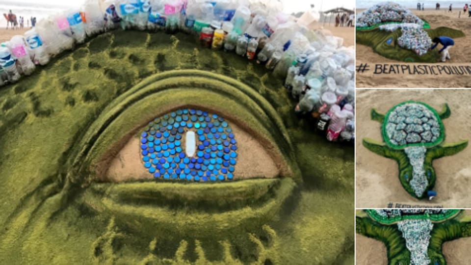 Sudarsan Pattnaik,World Envionment Day,'Biggest Sand Turtle'