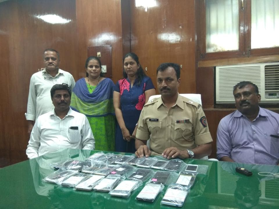 Officials recovered the stolen phones from the accused.