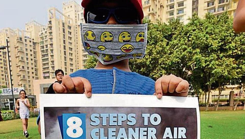 Residents protest against pollution and dust.