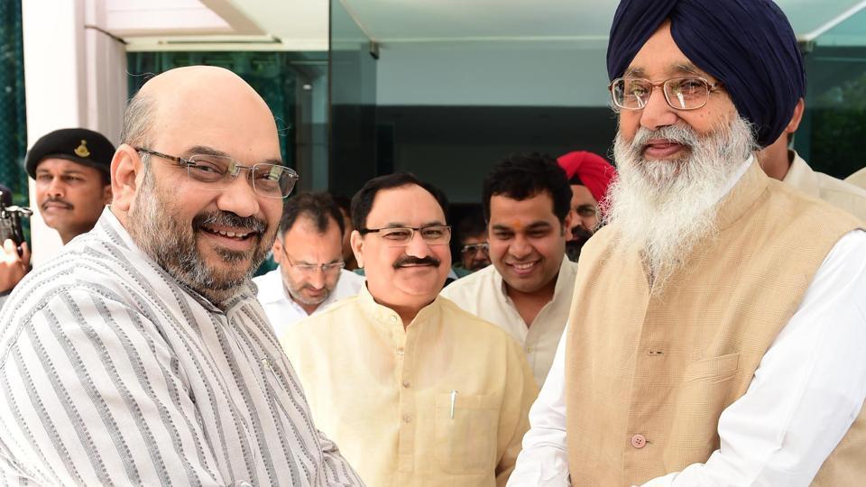 Amit Shah,Badal,Badal-Amit meet