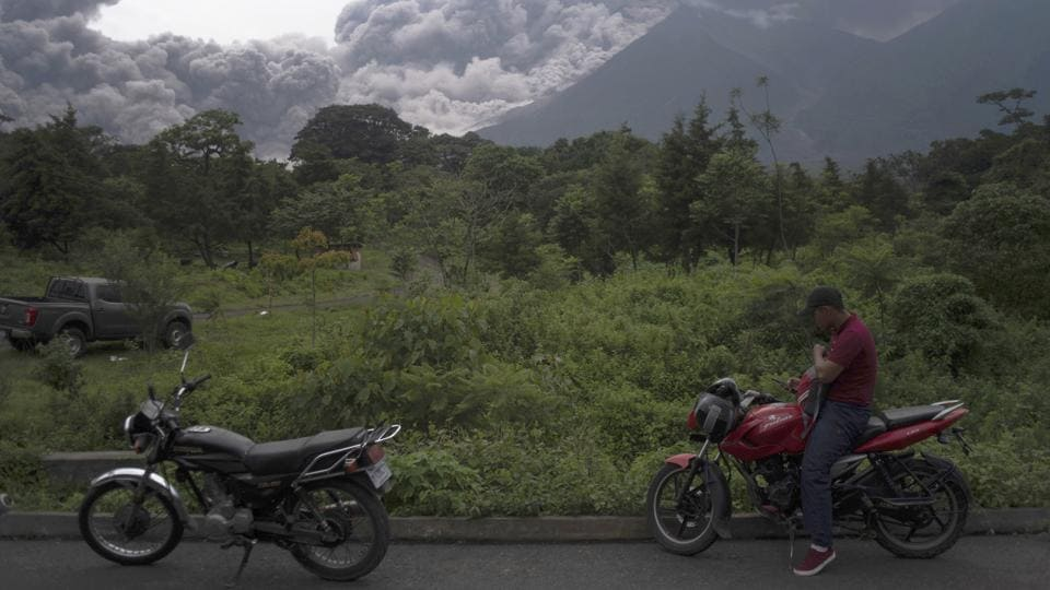 Guatemala's Fuego volcano erupted Sunday, spewing deadly clouds of ash and pulverized rock. Fuego is one of 11 active volcanoes in the Central American country along the 'Ring of Fire'. The death toll rose to 69 on Tuesday and is expected to go higher from a disaster that caught residents of remote mountain hamlets off guard with little or no time to flee to safety. (Santiago Billy / AP)