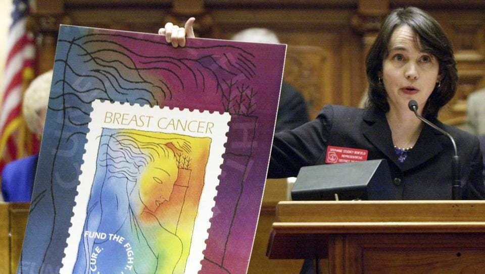 Proceeds from the US Postal Service's breast cancer stamp enabled a landmark study.