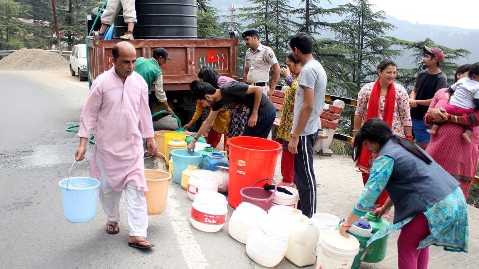 Shimla,Shimla water crisis,Water shortage