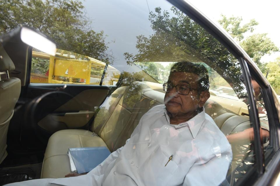Congress leader and former finance minister P Chidambaram arrives at the Enforcement Directorate office in New Delhi on Tuesday.