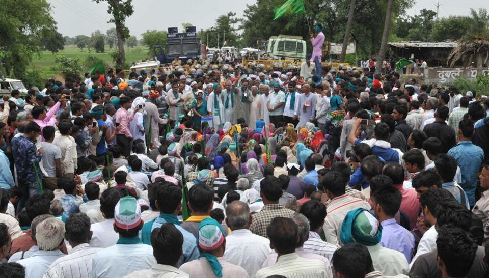 Farmers are staying put in their villages in a 10-day strike and refusing to supply milk and other essentials to the cities, leading to rise in prices of vegetables across Madhya Pradesh ahead of the first anniversary of the police firing in Mandsaur that killed six farmers.