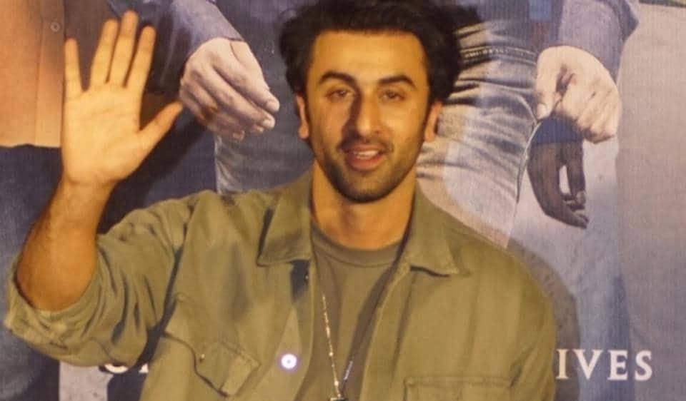 Ranbir Kapoor at the trailer launch of Sanju.