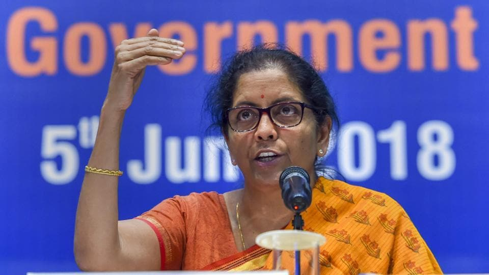 "Union Defence Minister Nirmala Sitharaman addresses a press conference highlighting her ministry's achievements in the last 4 years in New Delhi.""When it is an unprovoked attack the [Indian] Army was given the right to retaliate. We honour the ceasefire but of course, a margin was given to us when there is an unprovoked attack,"" she said at the conference. (Shahbaz Khan / PTI)"