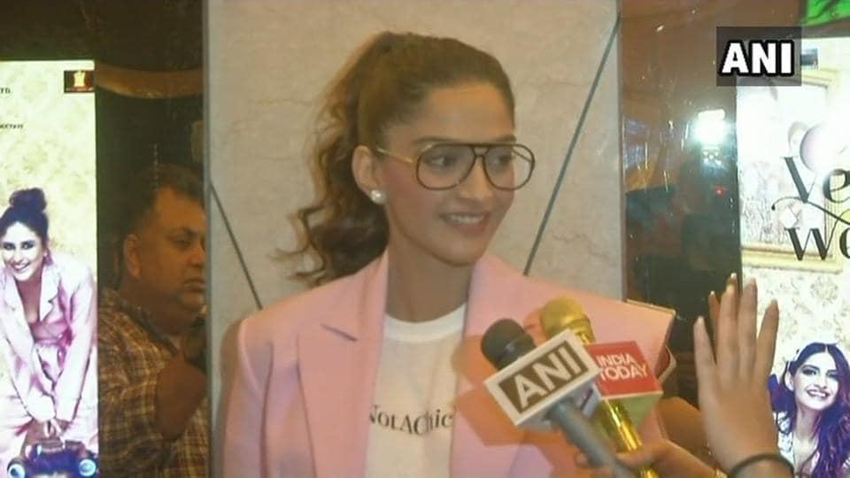 Sonam Kapoor has come forward in support of Swara Bhaskar.