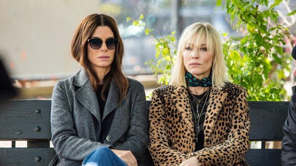 Sandra Bullock and Cate Blanchett in a still from Ocean's 8.