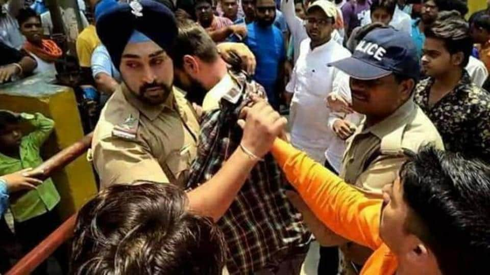 Sub-inspector Gagandeep Singh hit the headlines when he saved a youth from being attacked by an angry mob in Nainital last month.