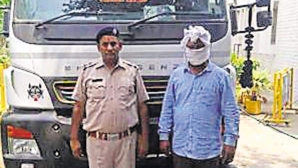A truck with 280kg marijuana was seized and Rajpal Yadav was arrested with a suspected gang member.