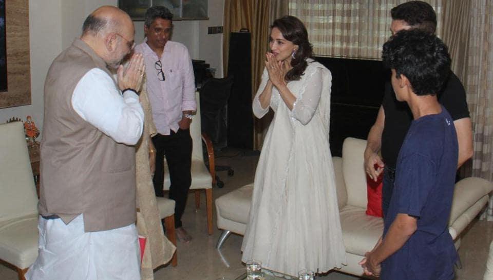Amit Shah,Madhuri Dixit,BJP