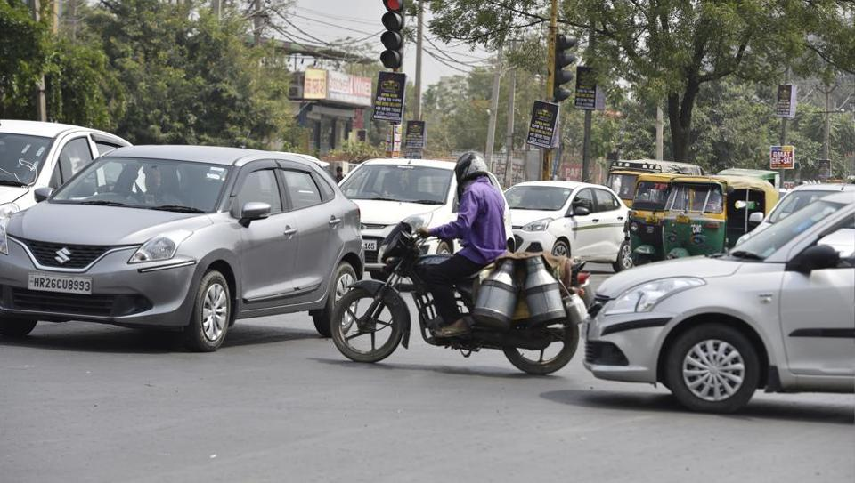 Bakhtawar Chowk is among top areas grappling with traffic violations in Gurugram.