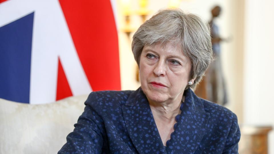 Theresa May,Heathrow runway,London