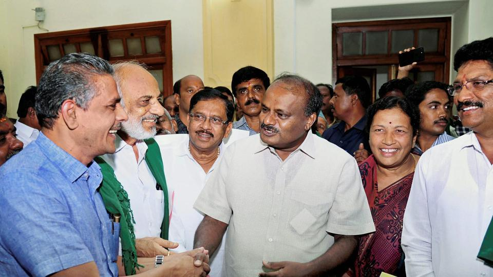 Image result for Kumaraswamy expands cabinet with 25 ministers