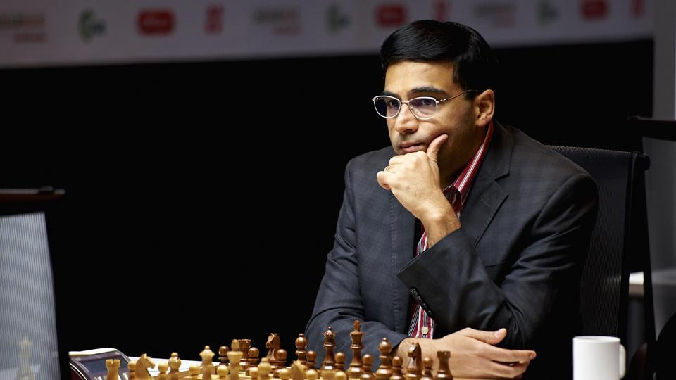 Viswanathan Anand slipped to fifth in the Norway Chess Open with a loss to Fabiano Caruana.