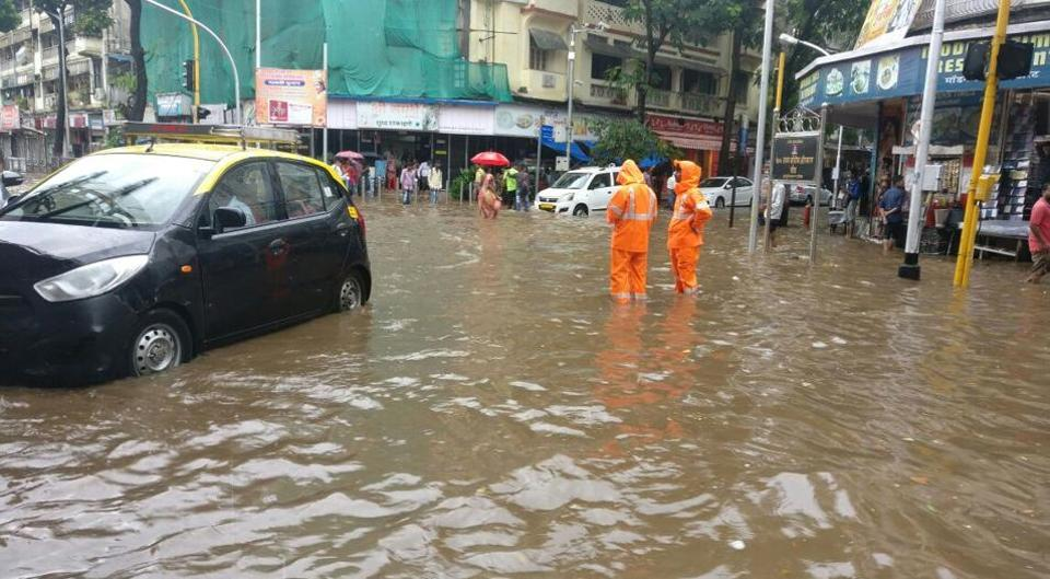 Parts of central Mumbai, Elphinstone Road, Parel, Dadar TT Circle and Hindmata were flooded in the pre-monsoon thundershowers.