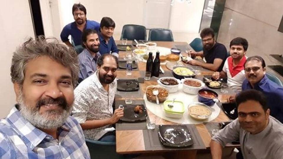 A host of Telugu director including SSRajamouli and Siva Koratala came together for dinner.
