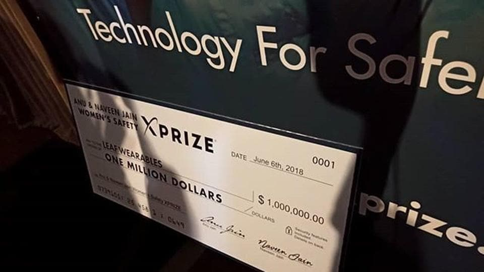 Leaf Wearables has won the $1 million Anu and Naveen Jain XPrize for women's safety.
