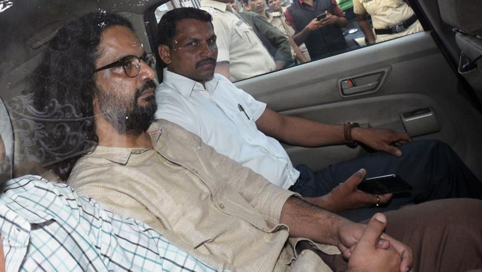 Activist Rona Wilson (pictured) was arrested on June 6 along with  Sudhir Dhawale,  Surendra Gadling, Mahesh Raut and Soma Sen from different locations for alleged Maoist links.
