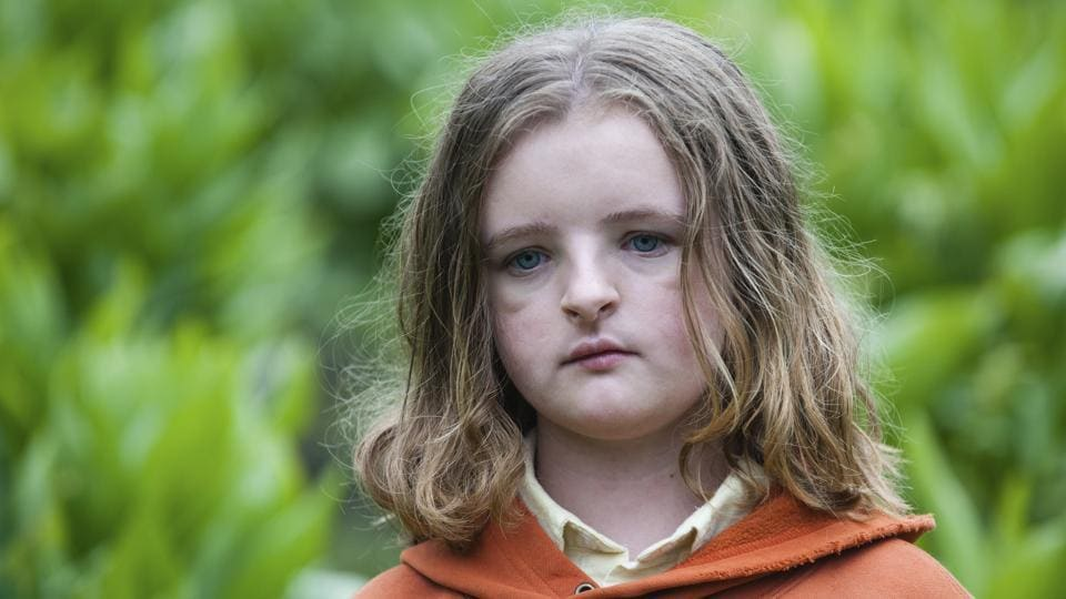 This image released by A24 shows Milly Shapiro in a scene from Hereditary.