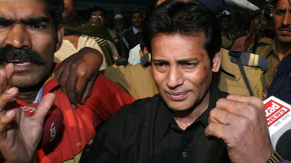 A Delhi court on Thursday sentenced gangster Abu Salem to seven years rigorous imprisonment for demanding Rs 5 crore as protection money from a Delhi-based businessman in 2002. The court passed the order after hearing arguments on sentence by the prosecution and the defence lawyers. It had convicted Salem in the case on May 26. (Sonu Mehta / HT File)
