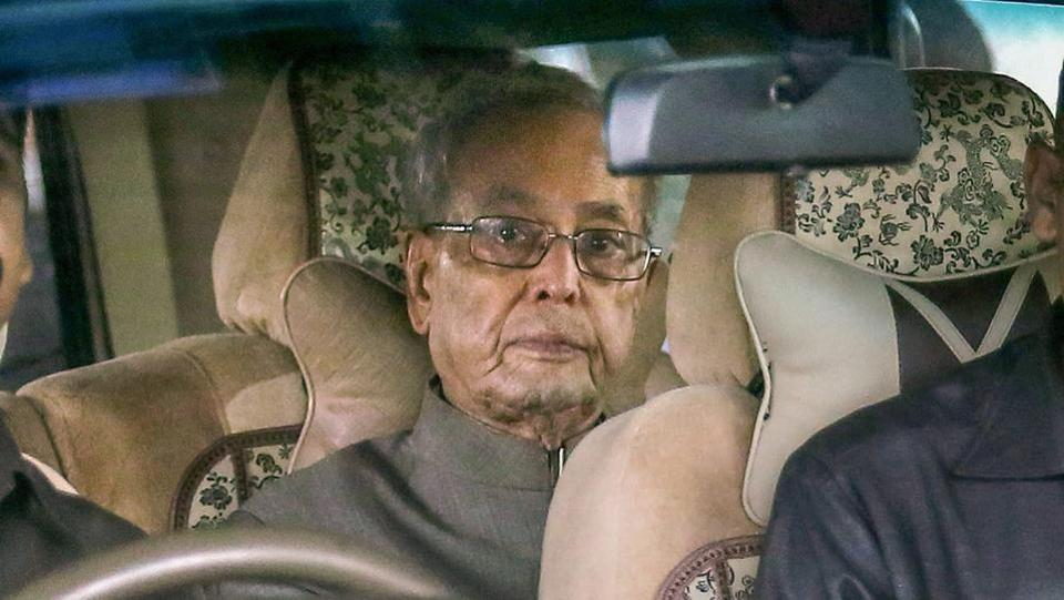 Pranab Mukherjee, who arrived in Nagpur on Wednesday is scheduled to address the valedictory function of the RSS's third-year officers' training camp at its headquarters in Reshimbagh on Thursday. According to sources, he will stay for two nights at the governor house before leaving for the national capital on Friday noon. (PTI File)