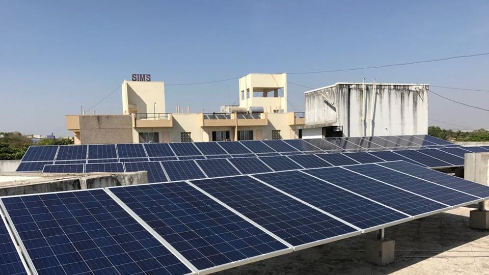 A 110 kilowatt peak(KWP) solar plant has been initiated at the Symbiosis Institute of Management Studies(SIMS), Khadi, recently.