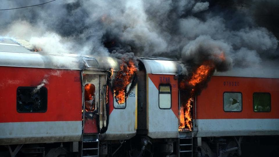 Fifteen cases of fire-related accidents have been reported in trains in the last five months primarily due to improper maintenance of rolling stock and lack of supervision, a Railway Board letter has said, instructing zonal railways to take corrective measures to minimise such incidents in the future. (HT File)