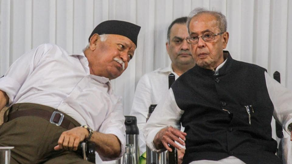 Pranab Mukherjee in RSS event!