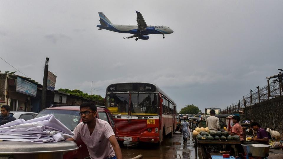 As heavy rains soaked the city, the main runway of the Chhatrapati Shivaji International Airport (CSIA) were closed for maintenance. Air traffic congestion continued till Thursday evening with at least nine flights of different airlines diverted. (PTI)