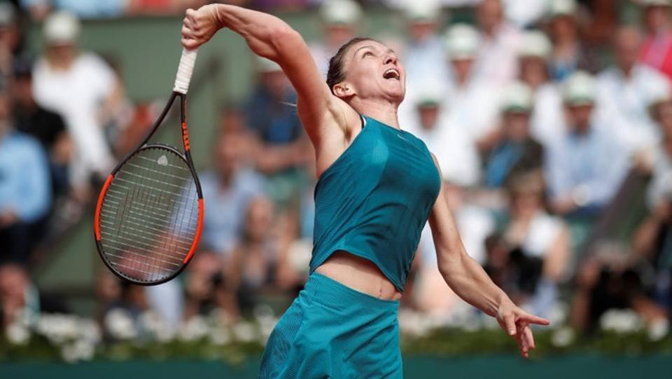 Simona Halep started the game poorly.   (REUTERS)