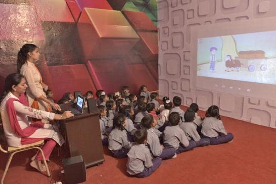 The department will set up these classrooms in collaboration with a private firm that conceived the concept.